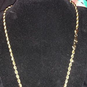 20 inch gold rope chain